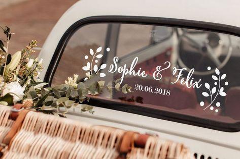 Wonderbaar Floral sticker-auto decoratie voor bruiloft-just getrouwd auto GK-06