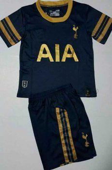 huge discount 7dfbb 19449 Kid's Tottenham Hotspur 16-17 Season Away Black Soccer Kit ...