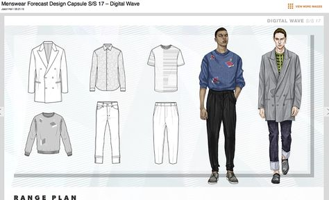 Fashion Illustrator Mengjie Di: WGSN 2017 SS Menswear Trend Forecast Illustrations