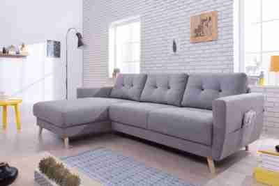 Canape D Angle Gauche Scandinave Tissu Gris Stockholm Canapes But Canape Angle Canape Angle Gris Canape Angle Gauche
