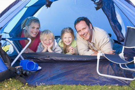 tent camping with children
