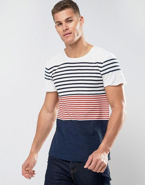 Tom Tailor T Shirt With Mixed Stripe White Latest Fashion Clothes Tom Tailor Online Shopping Clothes