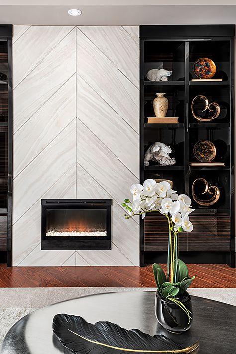 Modern fireplace insert