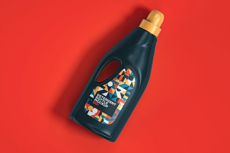 Detergent Bottle Mockup 001 by traint on Envato Elements