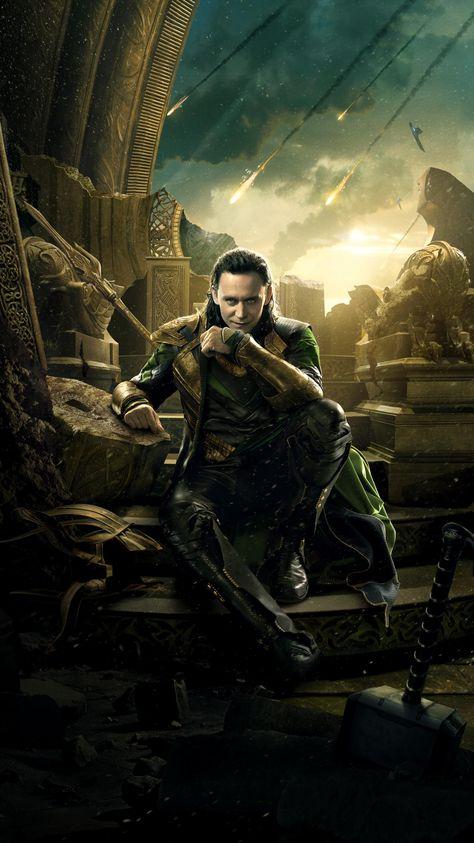 Thor: The Dark World (2013) Phone Wallpaper | Moviemania Loki Wallpaper, World Wallpaper, Disney Wallpaper, Loki Thor, Loki Laufeyson, Marvel Avengers, Marvel Characters, Marvel Movies, Marvel Wall Art