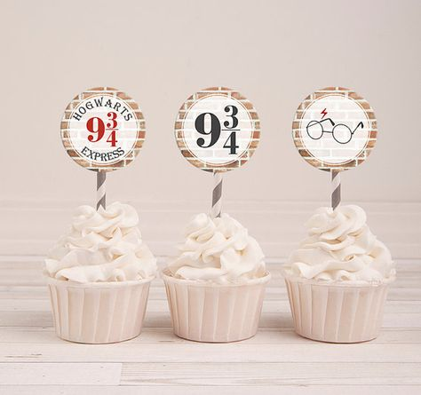 Harry Potter Cupcake Toppers Harry Potter Party by PrintyMuch