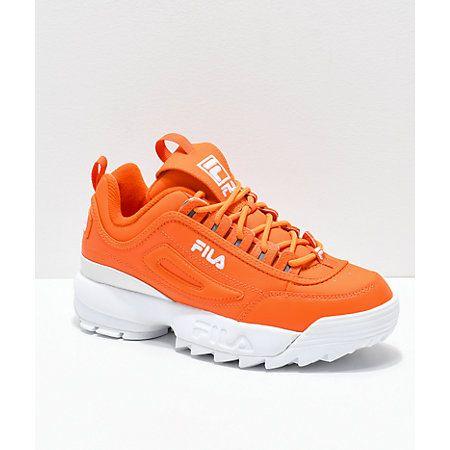 FILA Disruptor II Orange Shoes | Shoes in 2019 | Shoes ...
