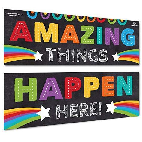 Sproutbrite Classroom Decorations - Banner Posters for Teachers - Bulletin Board and Wall Decor for Pre School, Elementary and Middle School - Default
