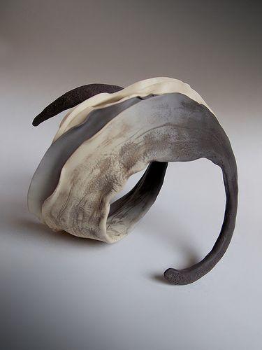 Organic-dynamic...bangle, polymer clay, Sona Grigoryan..