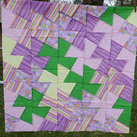 Unfinished Quilt Top Ready To Quilt Lap Throw Baby Girl Quilt Blanke