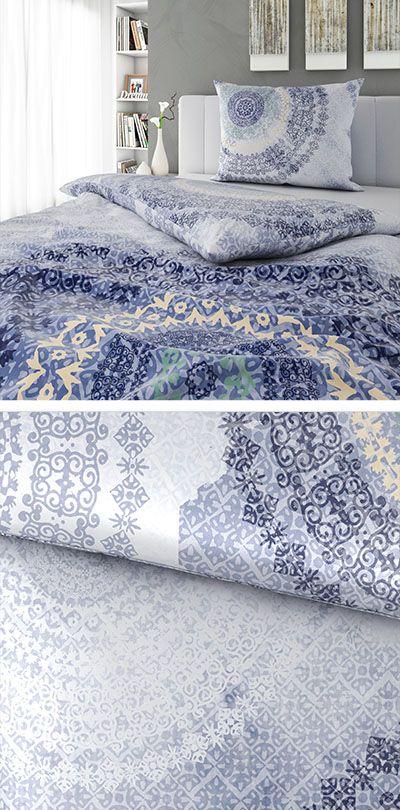 Bettwasche In Blau Mir Orientalischem Muster 140x200 Bettwasche