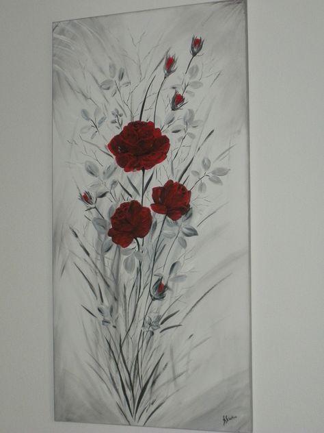 ROSES TENDANCES VELOURS AUX PETALES D'ARGENT : Peintures par brigitte-schutten