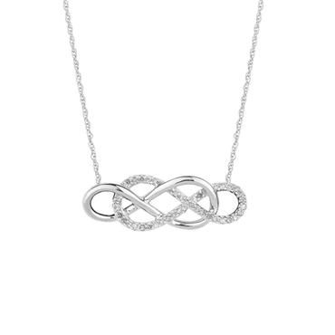 Double Infinity Sterling Silver Diamond Necklace 1/6ctw - Item 19401777 | REEDS Jewelers