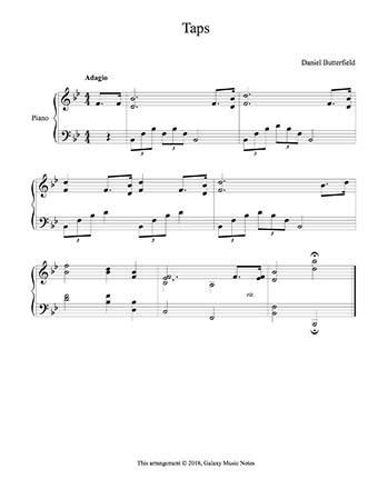 Taps Level 4 Piano Sheet Music With Images Sheet Music