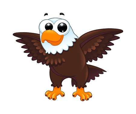 Illustration Of Young Eagle Funny Cartoon Vector Isolated Animal Vector Art Clipart And Stock Vectors Image 4424 Eagle Vector Cartoons Vector Eagle Cartoon