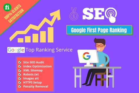 I will do google first page ranking in your website with white hat seo service