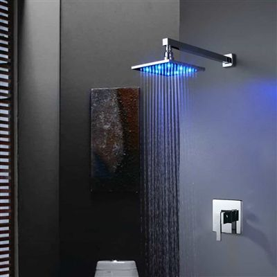 Rainfall Waterfall Showerhead Buy Trialo Solid Brass Recessed Color Changing Water Powered Led Shower With Adjustable Body Jets And Mixer Online Nel 2020