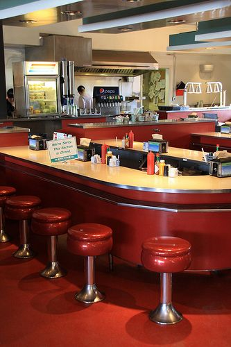 Retro Dining Cafe Counter At Yellowstone In The A Throwback To An Era Long Gone