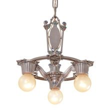 Riddle Silvery Polychrome 3 Light Revival Chandelier C1925