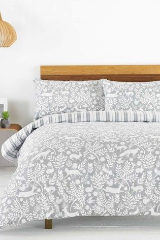 Buy Riva Home Brushed Cotton Flannel Winter Stag Duvet Cover And Pillowcase Set From The Next Uk Online Shop Gray Duvet Cover Duvet Cover Master Bedroom Duvet Cover Sets