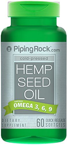 Piping Rock ColdPressed Hemp Seed Oil 700 mg 60 Quick