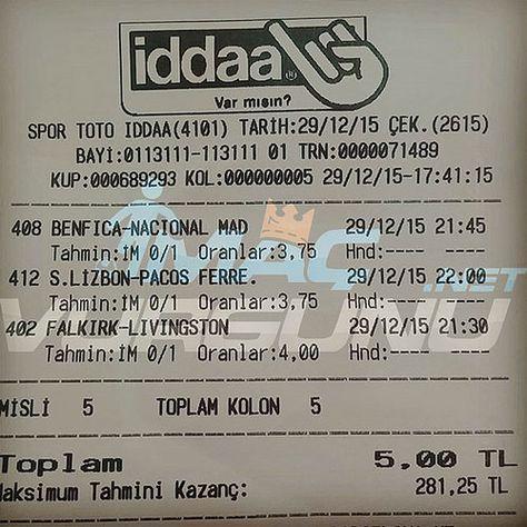 3 Ocak 2017 Tutan Iddaa Tahminleri Macvurgun Turkrazzi
