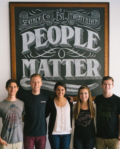 Meet our incredible #Sevenly interns :) They're awesome!