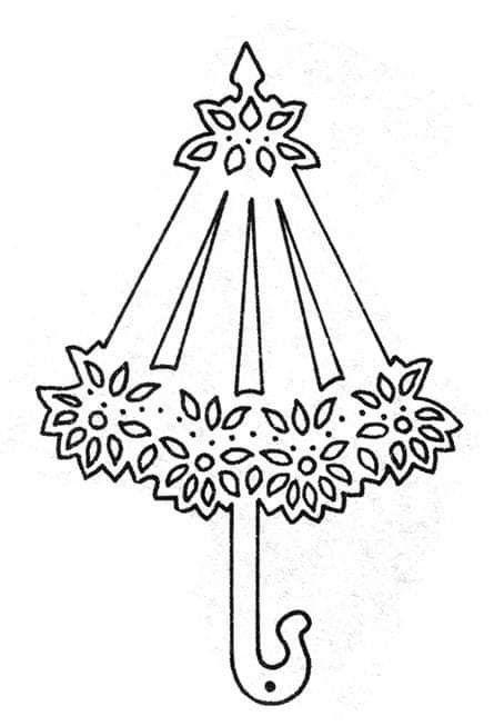 Pin By Lucyna Gieter On Pani Jesien Szablon Scrapbook Paper Crafts Umbrella Template Vellum Crafts