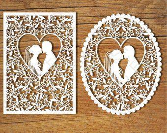 Wedding Card Svg Files For Silhouette Cameo And Cricut Etsy Wedding Cards Cards Silhouette Cameo Wedding