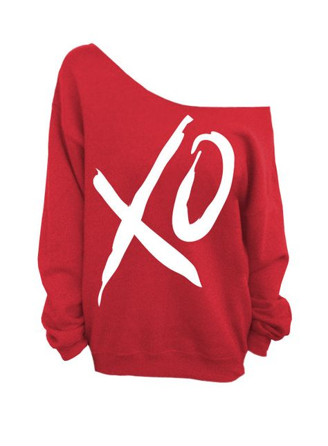 XO - Valentines Day - Red Slouchy Oversized Sweatshirt (This listing is for the *RED* sweatshirt only!