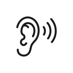Ear Listening Icon Vector Isolated Aff Listening Ear Icon Isolated Vector Ad Vector Icon Design Icon P Logo Design