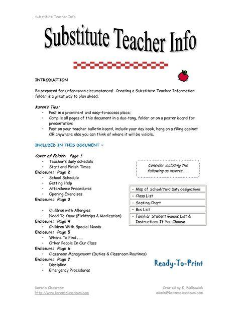 Educatorsu0027 Professional Résumés has been supporting instructors in - substitute teacher duties resume