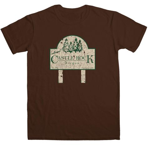 Inspired By Stand By Me T Shirt - Castle Rock - Dark Chocolate / Large