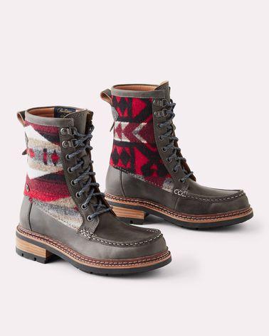 Women/'s Shoes Clarks x Pendleton OTTAWA PEAK Moc Toe Boots 38339 Dark Tan Combi