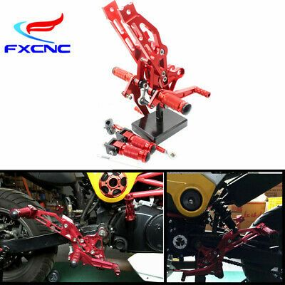 FXCNC Racing Billet Motorcycle Adjustable Rearsets Foot Pegs Rear Set for Honda Grom MSX125 2017 2018 2019