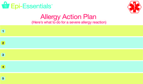 Allergy Action \ Emergency Contact Cards Lets those around you - emergency action plans