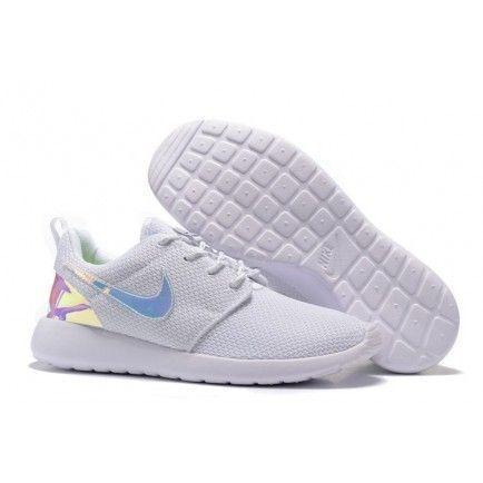 Nike Roshe Run Mesh White Black Hologram Iridescent Shoes