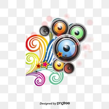 Music Speaker Bright Music Speaker Png And Vector With