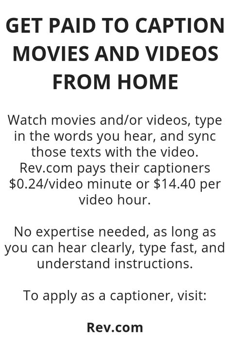 Get Paid To Caption Movies And Videos From Home - Wisdom Lives Here