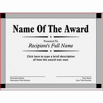 Image result for Free Printable Award Certificate Template Awards