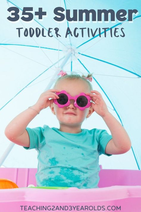 Looking for toddler summer activities? Here are 20 of the best activities that you will want to try. Art, sensory, nature, play dough, outdoor ideas, and more! #toddlers #play #outdoors #outside #summer #nature #finemotor #AGE2 #toddler #teaching2and3yearolds