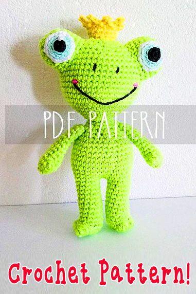 Bonnie Frog Prince Doll Crochet Pattern » No.1 Amigurumi Crochet ... | 572x381