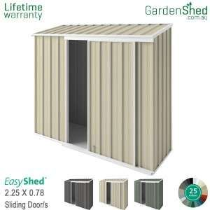 Easyshed Skillion3 75m X 1 90mskillion Slant With Images Simple Shed Types Of Doors Sliding Doors