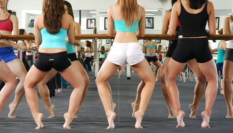 Barre Workouts For Your Arms, Legs, and Butt. Use kitchen counter if you don't have a barre.