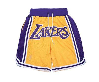 Advertisement Ebay Lakers Basketball Shorts Mens Embroidered Free Shipping Basketball Shorts Adidas Men