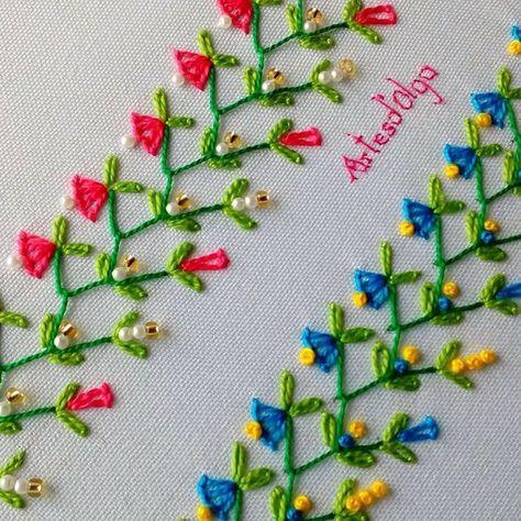 En este tutorial te muestro cómo bordar puntadas decorativas. (Tutorial No. 7) . . . . #artesdeolga #artesdolga #bordado #bordados #diy #puntadas #decorativas #embroidery #decorative #stitches