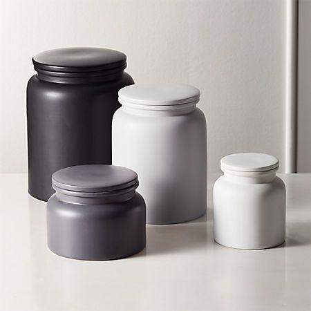 Prep Stoneware Kitchen Canisters Cb2 Kitchen Canisters Canister Sets Coffee Canister