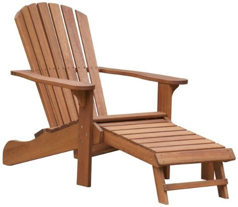 Outdoor Interiors Cd3111 Eucalyptus Adirondack Chair And Built In Ottoman Http Www Dp B0047zgo0o Ref