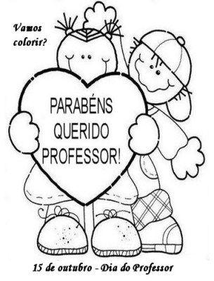 Desenhos Para Pintar Ou Colorir Do Dia Dos Professores O Mestre
