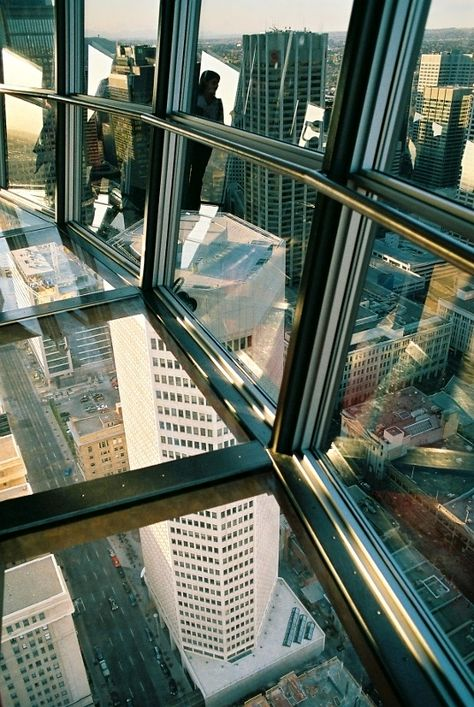 The Calgary Tower sky deck.... its no CN Tower but still....